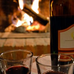 Celebrating with fire and dolcetto